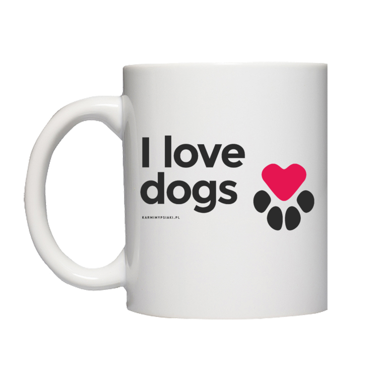 I LOVE DOGS I KARMIMY PSIAKI - KUBEK